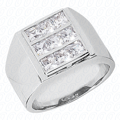 14KW Fancy Styles Cut Diamond Unique Engagement Ring 2.43 CT. Mens Rings Style