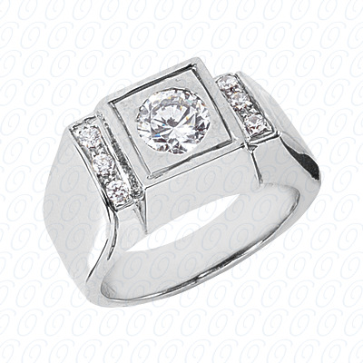 14KW Fancy Styles Cut Diamond Unique Engagement Ring 0.12 CT. Mens Rings Style