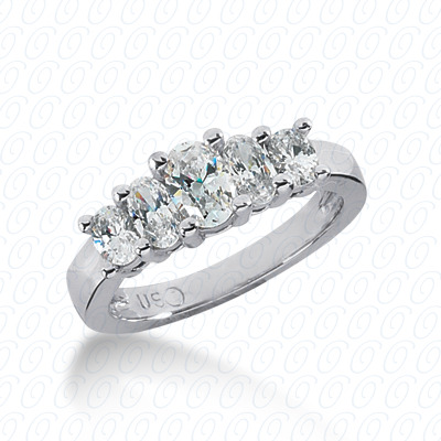 14KW Oval Cut Diamond Unique Engagement Ring 1.05 CT. Wedding Bands Style