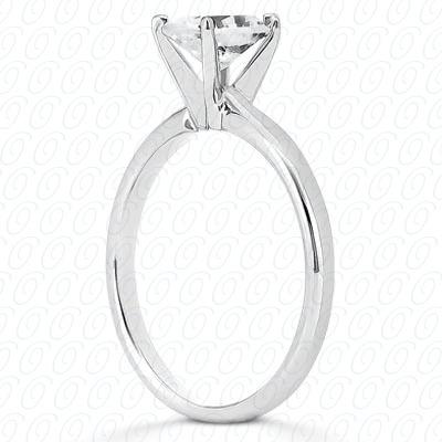 14KP Oval Cut Diamond Unique Engagement Ring 0.00 CT. Solitaires Style