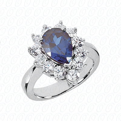 Pear Cut Diamond Unique Engagement Ring 1.20 CT. Color Stone Rings Style