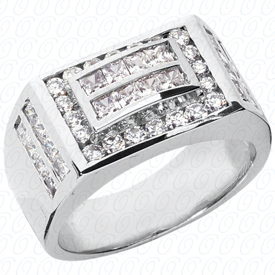 14KW Fancy Styles Cut Diamond Unique Engagement Ring 2.66 CT. Mens Rings Style