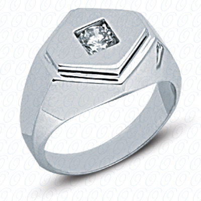 14KW Solitaires Cut Diamond Unique Engagement Ring 0.50 CT. Mens Rings Style