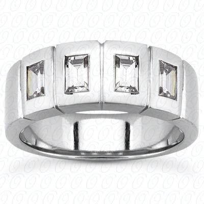 14KW Baguette Cut Diamond Unique Engagement Ring 1.00 CT. Wedding Band Sets Style