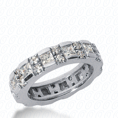 14KW Combinations Cut Diamond Unique Engagement Ring 2.20 CT. Eternity Wedding Bands Style