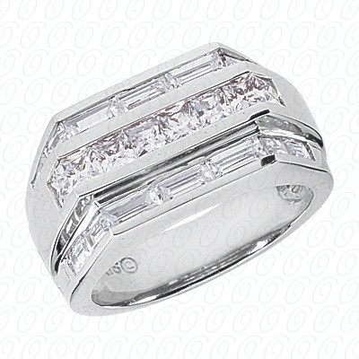 14KW Fancy Styles Cut Diamond Unique Engagement Ring 2.76 CT. Mens Rings Style