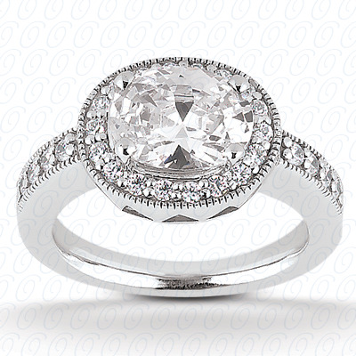 14KW Oval Cut Diamond Unique Engagement Ring 0.30 CT. Color Stone Rings Style