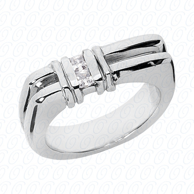 14KW Wedding Bands Cut Diamond Unique Engagement Ring 0.20 CT. Mens Rings Style