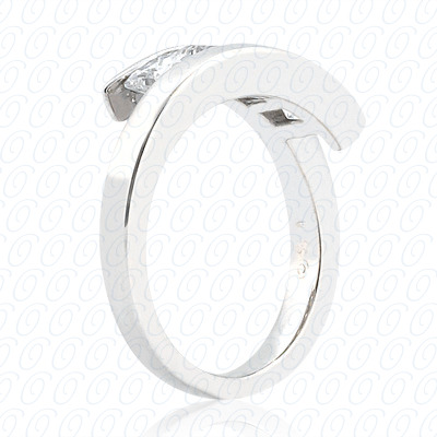 14KW Journey Rings Cut Diamond Unique Engagement Ring 0.68 CT. Fancy Rings Style