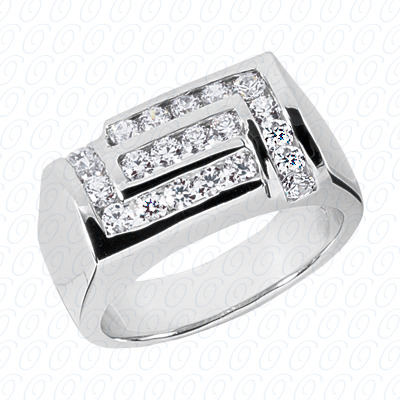 14KW Fancy Styles Cut Diamond Unique Engagement Ring 0.88 CT. Mens Rings Style