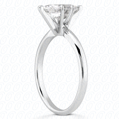 14KP Marquise Cut Diamond Unique Engagement Ring 0.00 CT. Solitaires Style