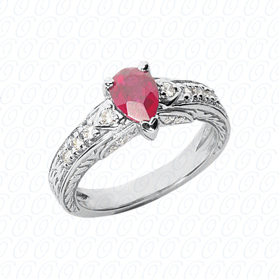 Pear Cut Diamond Unique Engagement Ring 0.23 CT. Color Stone Rings Style