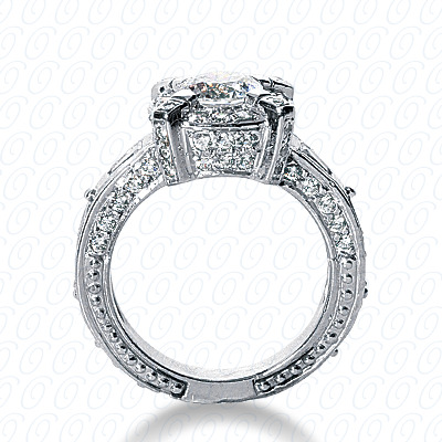 14KW Fancy Cut Diamond Unique Engagement Ring 0.65 CT. Engagement Rings Style