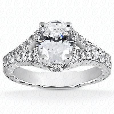 14KW Antique Cut Diamond Unique Engagement Ring 0.32 CT. Engagement Rings Style