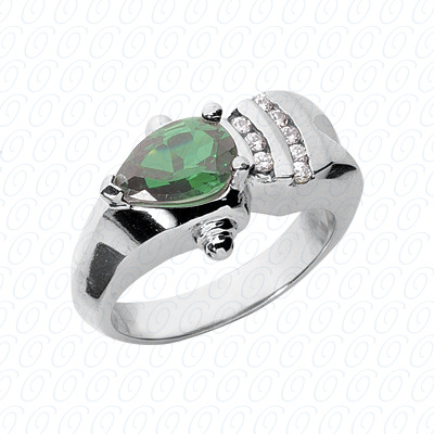 Pear Cut Diamond Unique Engagement Ring 0.12 CT. Color Stone Rings Style