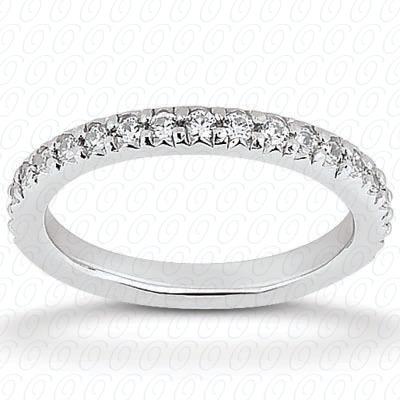 14KW  Round Cut Diamond Unique Engagement Ring 0.39 CT. Eternity Wedding Bands Style