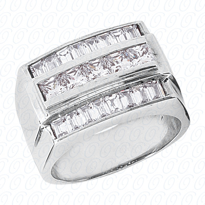 14KW Fancy Styles Cut Diamond Unique Engagement Ring 2.62 CT. Mens Rings Style