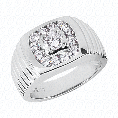 14KW Fancy Styles Cut Diamond Unique Engagement Ring 1.34 CT. Mens Rings Style