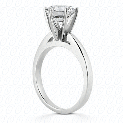14KW Interchangeable Heads Cut Diamond Unique Engagement Ring 0.00 CT. Solitaires Style