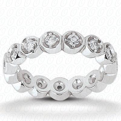14KW  Round Cut Diamond Unique Engagement Ring 0.32 CT. Eternity Wedding Bands Style