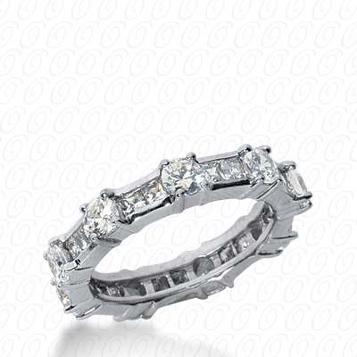 14KW Combinations Cut Diamond Unique Engagement Ring 2.00 CT. Eternity Wedding Bands Style