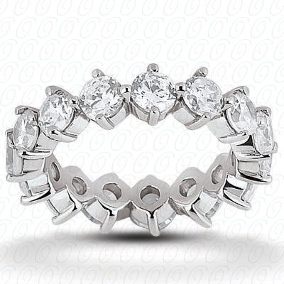 14KW  Round Cut Diamond Unique Engagement Ring 0.58 CT. Eternity Wedding Bands Style