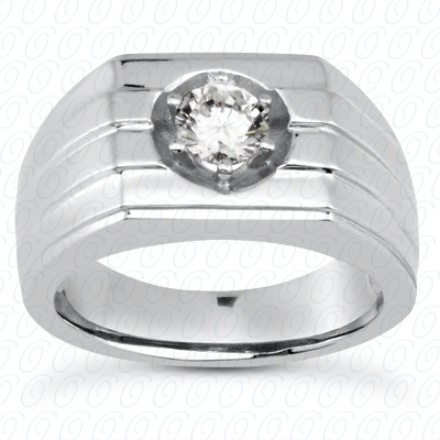 14KW Solitaires Cut Diamond Unique Engagement Ring 0.25 CT. Mens Rings Style