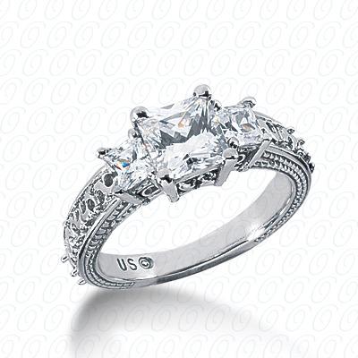 14KW Antique Cut Diamond Unique Engagement Ring 0.34 CT. Engagement Rings Style