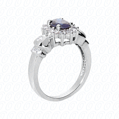 14KW Fancy Rings Cut Diamond Unique Engagement Ring 0.49 CT. Fancy Rings Style