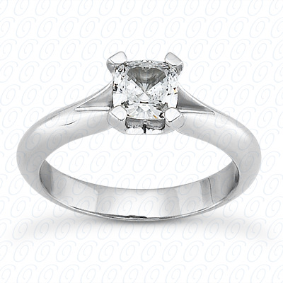 14KP Cushion Cut Diamond Unique Engagement Ring 0.00 CT. Solitaires Style