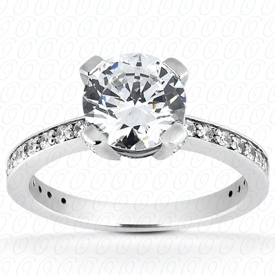 14KW Fancy Cut Diamond Unique Engagement Ring 0.39 CT. Engagement Rings Style