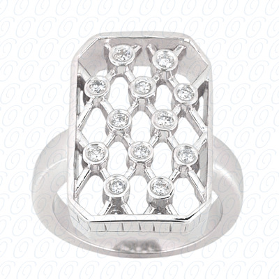 14KW Right Hand Rings Cut Diamond Unique Engagement Ring 0.18 CT. Fancy Rings Style