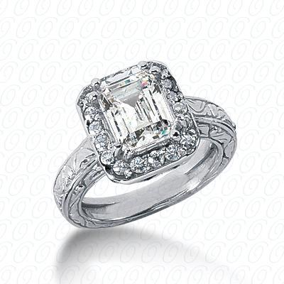 14KW Antique Cut Diamond Unique Engagement Ring 0.36 CT. Engagement Rings Style