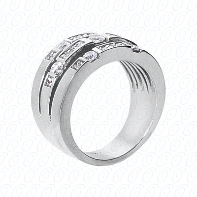 14KW Right Hand Rings Cut Diamond Unique Engagement Ring 0.64 CT. Fancy Rings Style