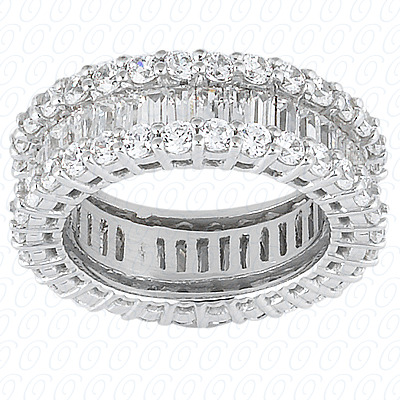14KW Combinations Cut Diamond Unique Engagement Ring 1.83 CT. Eternity Wedding Bands Style