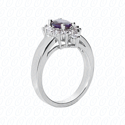 14KW Fancy Rings Cut Diamond Unique Engagement Ring 0.46 CT. Fancy Rings Style