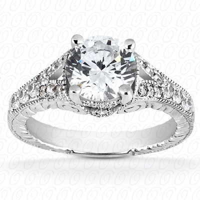 14KW Fancy Cut Diamond Unique Engagement Ring 0.27 CT. Engagement Rings Style