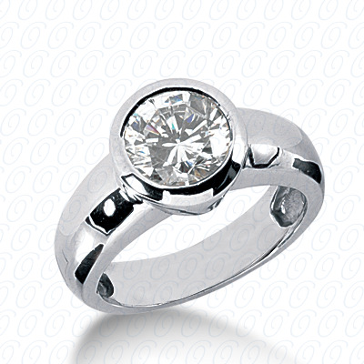 14KW Round Cut Diamond Unique Engagement Ring 0.00 CT. Solitaires Style