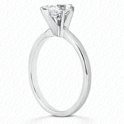 14KP Pear Cut Diamond Unique Engagement Ring 0.00 CT. Solitaires Style