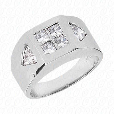 14KW Fancy Styles Cut Diamond Unique Engagement Ring 1.38 CT. Mens Rings Style