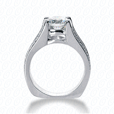 14KW Fancy Cut Diamond Unique Engagement Ring 0.32 CT. Engagement Rings Style