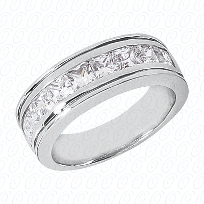 14KW Wedding Bands Cut Diamond Unique Engagement Ring 2.43 CT. Mens Rings Style