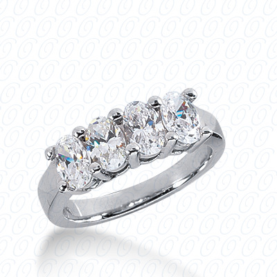 14KW Oval Cut Diamond Unique Engagement Ring 2.00 CT. Wedding Bands Style