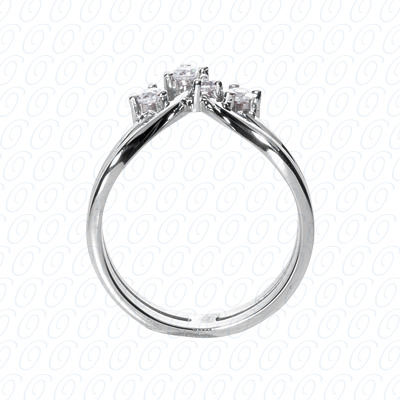 14KW Right Hand Rings Cut Diamond Unique Engagement Ring 0.23 CT. Fancy Rings Style