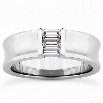 14KW Baguette Cut Diamond Unique Engagement Ring 0.36 CT. Wedding Band Sets Style