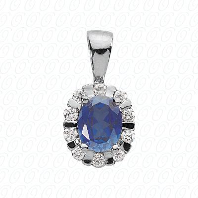 14KW  Color Stones Cut Diamond Unique Engagement Ring 0.65 CT. Pendants Style