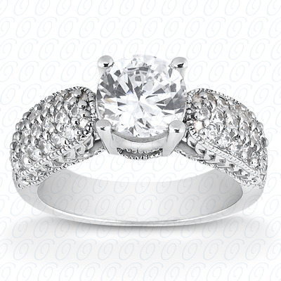 14KW Fancy Cut Diamond Unique Engagement Ring 0.30 CT. Engagement Rings Style