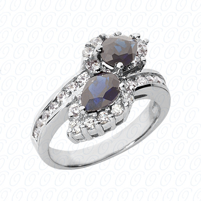Pear Cut Diamond Unique Engagement Ring 0.89 CT. Color Stone Rings Style