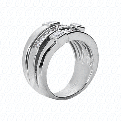 14KW Right Hand Rings Cut Diamond Unique Engagement Ring 0.67 CT. Fancy Rings Style