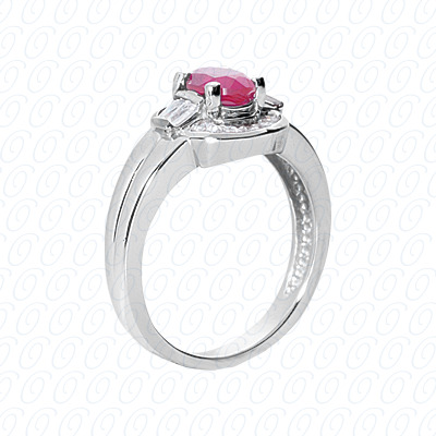14KW Fancy Rings Cut Diamond Unique Engagement Ring 0.51 CT. Fancy Rings Style